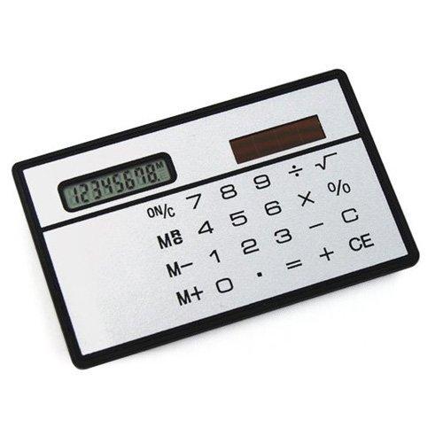 GTFS Hot Convenient Solar Power Credit Card Sized Pocket Calculator Travel New UK Sale(China (Mainland))