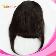 Free shipping Clip In Bangs Brazilian Virgin Hair Fringe Real People Hair Bangs Clip On Hair Pieces(China (Mainland))
