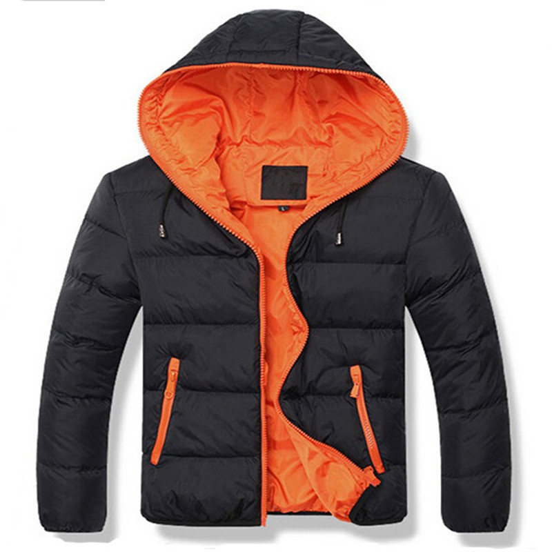 2015 Male Slim Casual Cotton Outdoors Outwear Down Jackets Hot Sale New Mens Winter Jacket Men