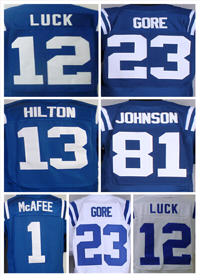#12 Andrew Luck Jersey ty hilton 13 Elite Colt Jersey Andre Johnson ,American Football Jersey Mixed order accpt cheap and fine(China (Mainland))