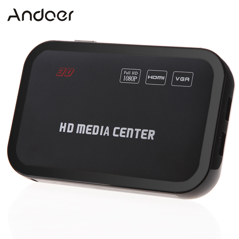 Full HD 1080P Media Player Center RM/RMVB/AVI/MPEG Multi Media Video Player with HDMI YPbPr VGA AV USB SD/MMC Remote Control(China (Mainland))