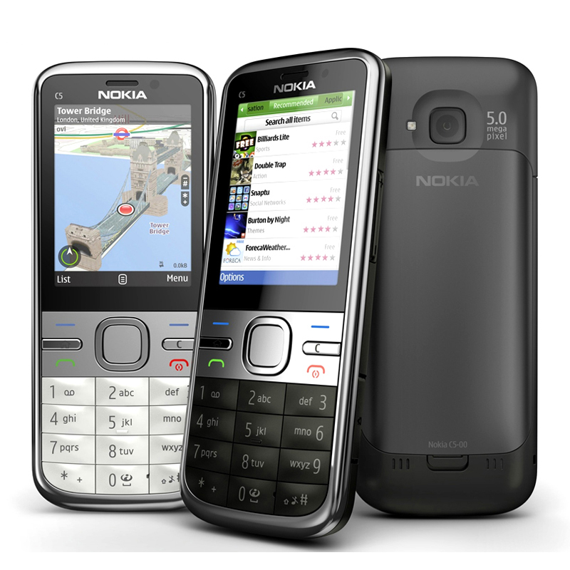 C5-00i Original Phone 100% Unlocked Nokia C5 C5-00 Cell phones GSM 3G 3Mp Camera FM GPS Bluetooth Free shipping(China (Mainland))