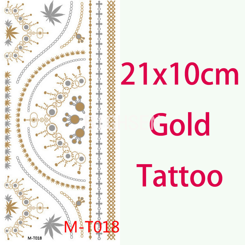 1 Pc Gold Leaf Tattoo Original Tattoos Flash Body Flash Tattoos Temporary Tattoo Egypt Fake Tatto Glitter Body Paint BMT0018(China (Mainland))