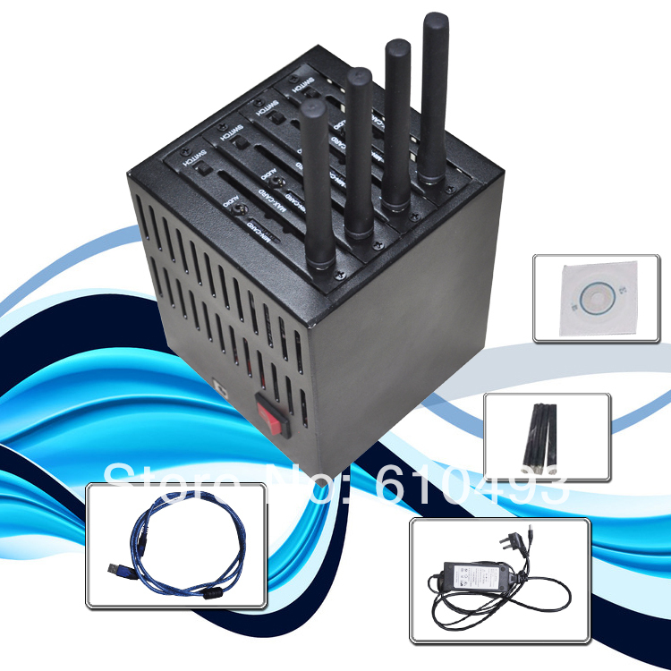 New arrival ! 4 port modem pool unlimited imei changeable wavecom Q24plus quad band(China (Mainland))