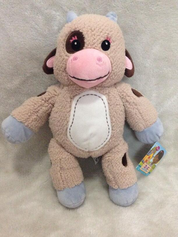 Discounted! Doc McStuffins - Doc's Friends Small Plush - Moo Moo Plush Toys 33cm(China (Mainland))