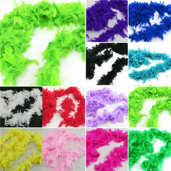 Retail Wholesale Fluffy Feather Scarves Dressup Hen Night Wedding Party Burlesque Fancy Scarf Wraps(China (Mainland))