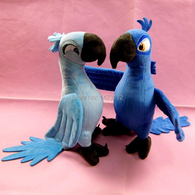 2Pcs/lot New Rio 2 Movie Cartoon Plush Toys Dolls Blue Parrot 30CM Blu & Jewel Bird Gifts For Boys/Girls/Baby plush toys doll(China (Mainland))