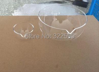 125mm quartz glass FLAT BOTTOM  evaporating dish one pc free shipping