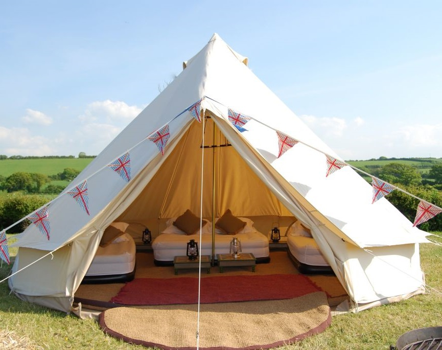 Diameter 5m Outdoor Leasure Camping Canvas Bell Tent