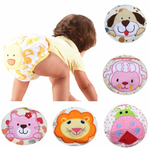 1pcs Animal design potty training pants for baby cotton panties waterproof kids nappies free shipping(China (Mainland))