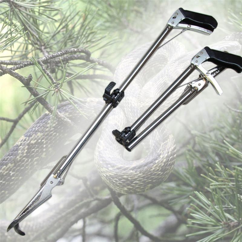 Portable Self-Lock Foldable Reptile Snake Tongs Stick Grabber Catcher Pro Herp Handling Tool Snake Catcher-Rattlesnake Grabber(China (Mainland))