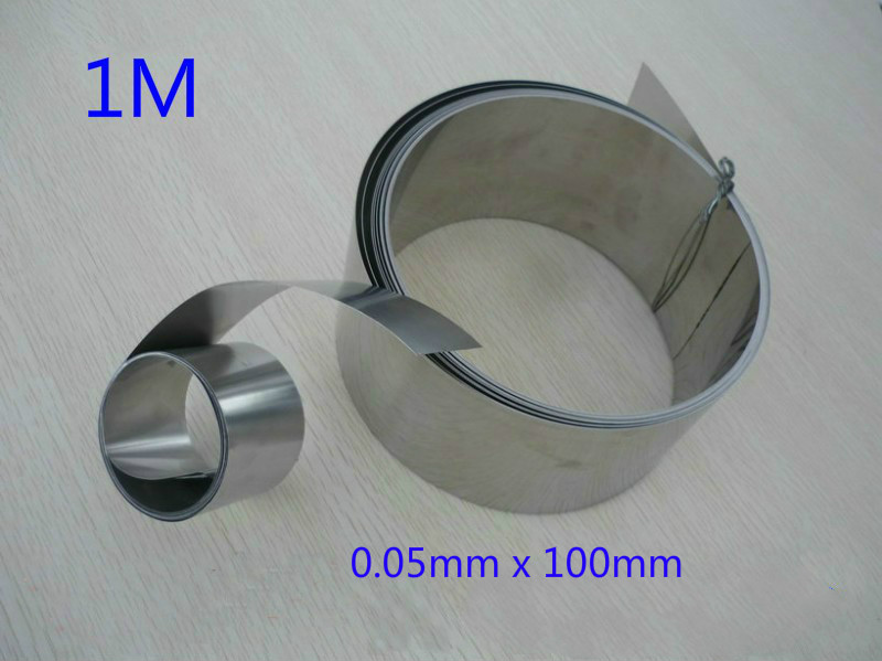 1M Stainless Steel Fine Plate Sheet Foil 0.05mm x 100mm(China (Mainland))