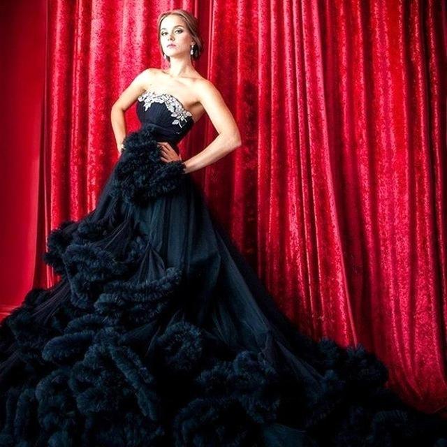 2016 русский стиль беременным свадебные платья Большой размер милая из бисера кристаллы - линия роскошные каскадных свадебное платье