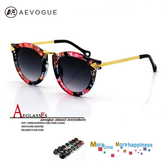 Aevogue ретро очки разнообразие цветов солнцезащитные очки женщин стрелка украшения металлические ножки солнцезащитные очки UV400 DT0236
