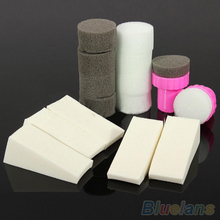 1 Set Nail Art Sponge Stamp Stamper Shade Transfer Template Polish Manicure Tool(China (Mainland))