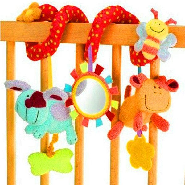 Soft Crib Toys : New soft crib toy animal friends pull ring bed around