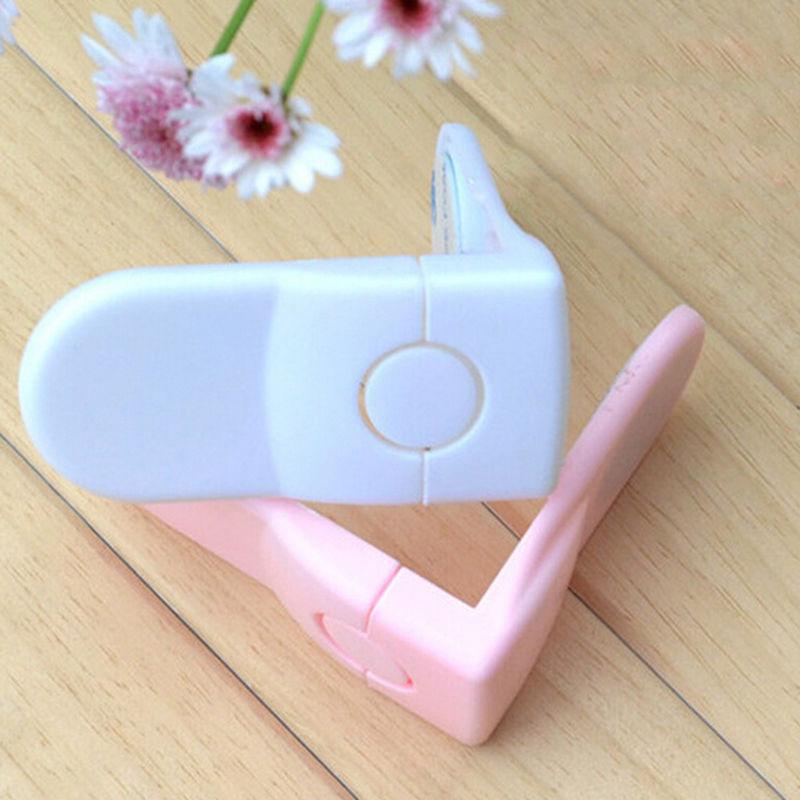 New Hot 1Pcs Baby Drawers Safety Lock Convenient Functional Child Kids Door Fridge Safety Lock Toilet Closet Plastic Lock(China (Mainland))