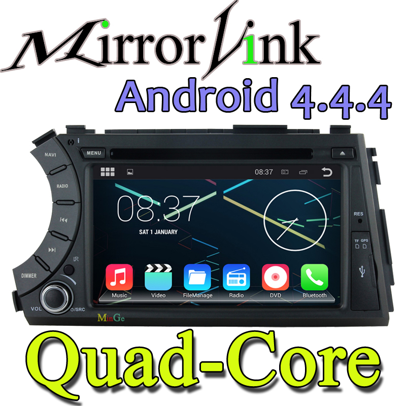 Quad Core Capacitive Screen SsangYong Kyron Actyon 2005-2013 Car Android 4.4 Car DVD GPS+ Free Map+8G card+ BT wifi 3G car radio(China (Mainland))