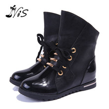Women Snow Boots Motorcycle Bota Autumn Winter  Leather Ankle Boots Women Shoes Knight Waterproof Botas Femininas Zapatos