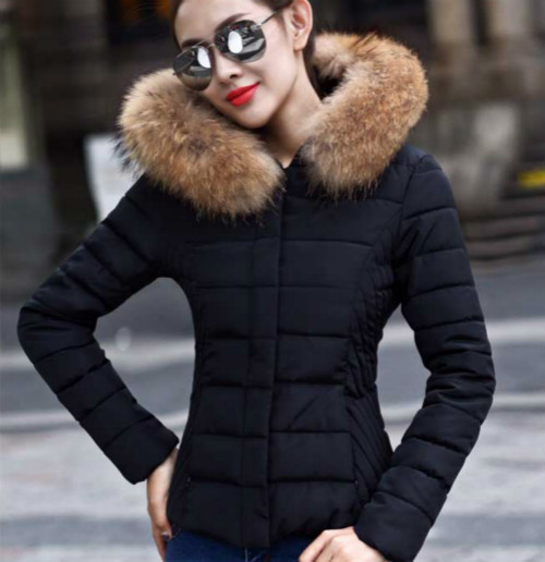 Short Parka Jacket With Fur Hood - JacketIn