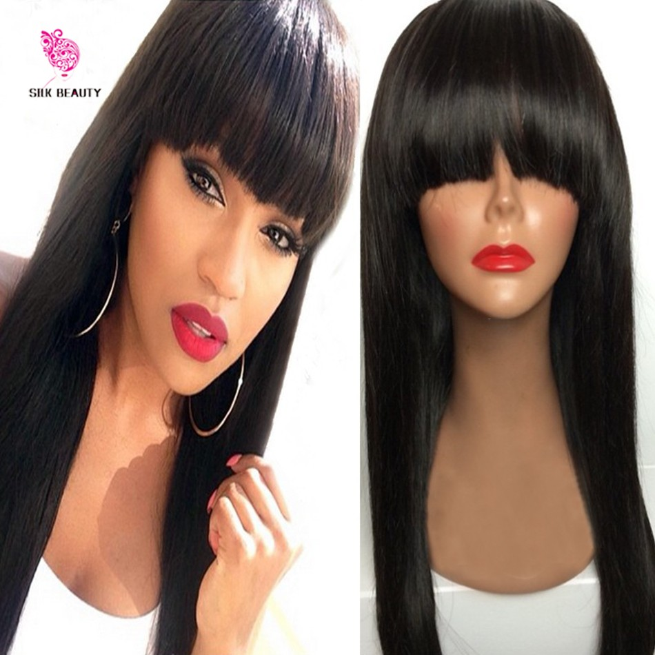 full lace wig with bangs