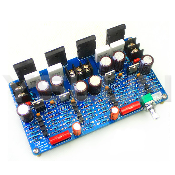 Power Amplifier 100W x 2 Dual-Channel Digital Audio Amplifier+/-10V~+/-45V Hifi stereo Finished Board - Yslun Electronic Manufacturer store