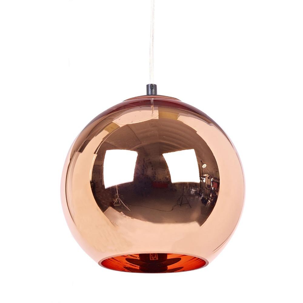 Modern Tom Dixon Copper Glass Ball Pendant Lamp E27 LED Para Quartos Pendant Light Fixture Kitchen Home Lighting lustres de sala(China (Mainland))