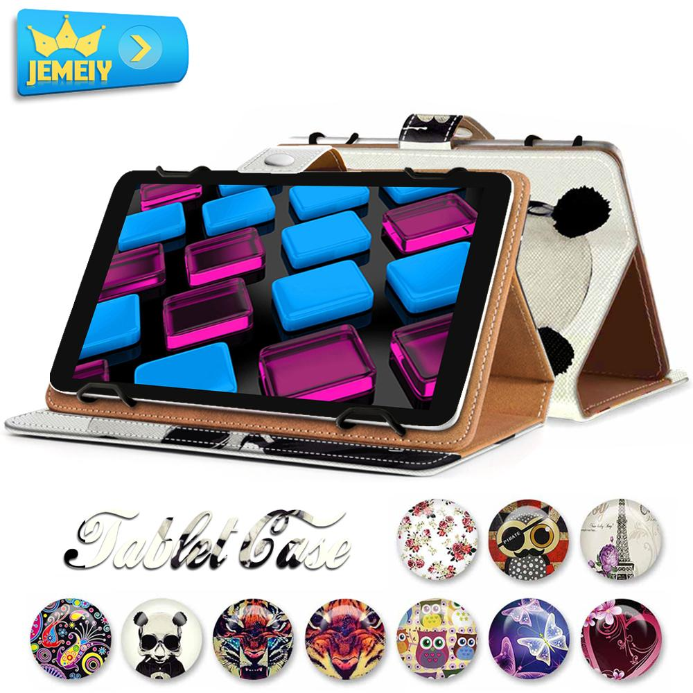 For Aigo Pad 707/MOMO9/AllWinner Q88 Universal PU Folio Wallet Cartoon Leather Case Tablet Protective Stand Cover Small Size(China (Mainland))