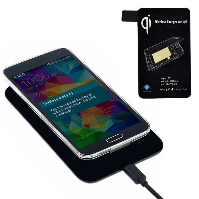 2015 high quality qi standard wireless charger for samsung galaxy s5 i9600 g900 and other. Black Bedroom Furniture Sets. Home Design Ideas