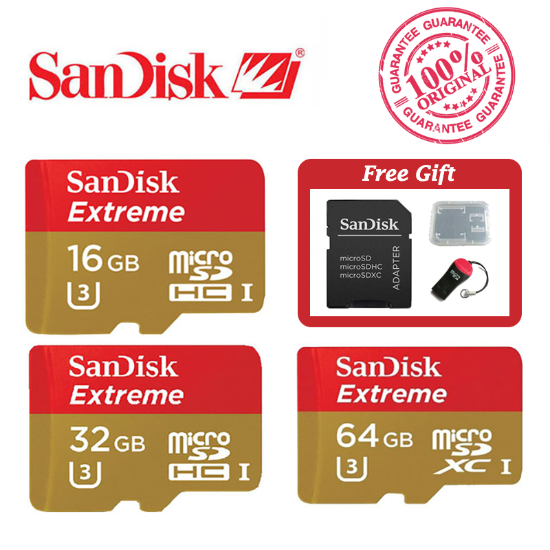 SanDisk Extreme Micro SD SDHC Class 10 U3 Level 90MB S
