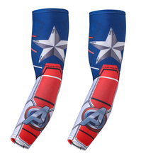 Quick Dry  3D Printing Marvel Gloves Spiderman Batman Hulk Unisex Summer Soft Fashion Over Sleeve Arm Warmers Protecting Gloves(China (Mainland))