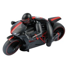 E-top RC motorcycle 4CH 2.4G high speed drift stunt Remote control children's toy with rubber wearproof tyre and Led light(China (Mainland))