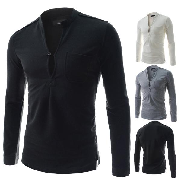 2015 new arrivals fashion special collar design v neck for T shirt design v neck
