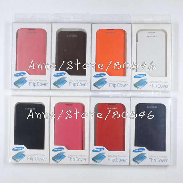 Cell phone case For Samsung Galaxy Premier i9260 flip leather Battery housing back case + retail package, wholesale 500pcs