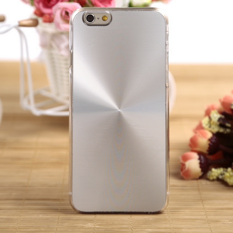 """2015 Luxury CD Stripes Brushed Metal Case For Iphone 6 4.7"""" Plastic Hard Cover For iPhone6 Silver Color Cheap & Sale Online(China (Mainland))"""