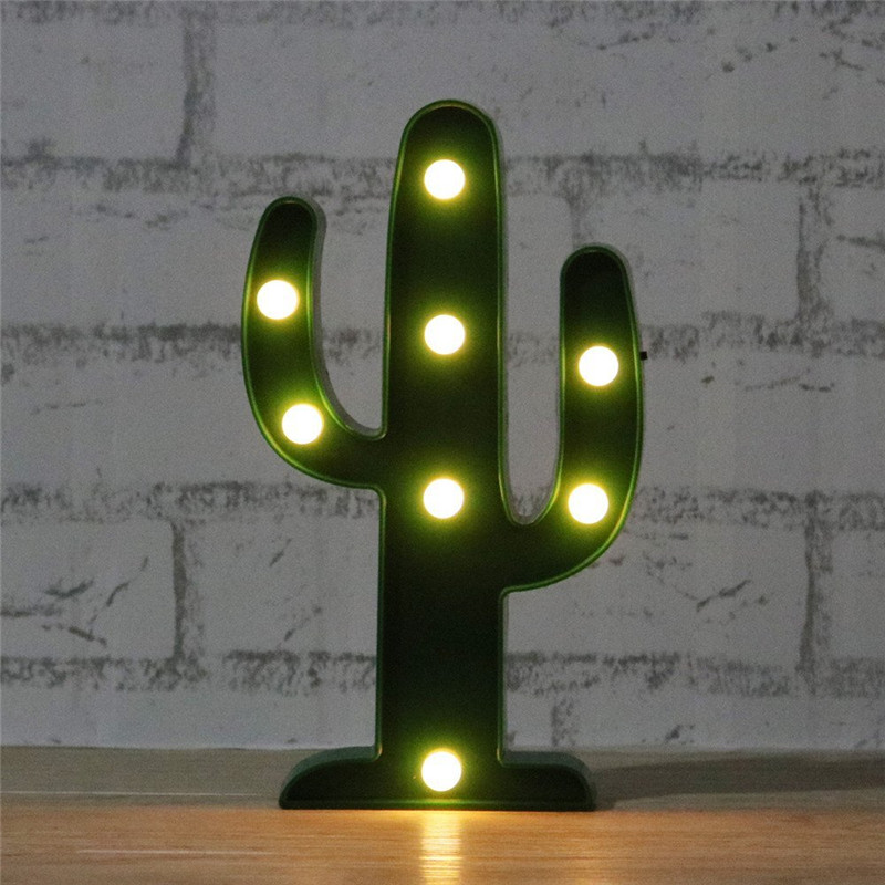 1 pcs Creative Led Green Cactus Night Light AA Battery Operated 3D Lamp Led Wall Light Gift for Kids Children's Room Decoration(China (Mainland))