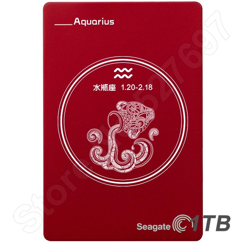 Aquarius Constellation Birthday Present Gift Seagate Hard Disk Drive External HDD 1TB Portable Storage For PC Laptop Desktop<br>