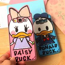 Samsung Galaxy A3 A5 A7 A8 A9 J1 J5 J7 G530 G355H Phone Cases 3D cartoon Graffiti animal Duck Donald Silicone Case Cover - Shenzhen Bingo Trade Co., Ltd store