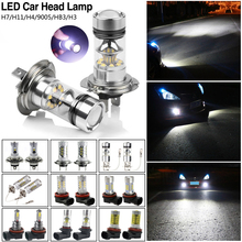 2pcs CREE Shockproof and Long Life-span 600-1000LM LED Bulbs Car Kit H3 H4 H7 H11 HB3 White Headlight Replace Xenon Lamp(China (Mainland))