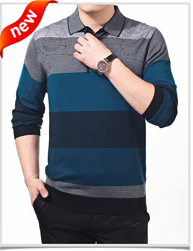 2014 brand new men 39 s cotton sweater pullover long sleeve for Mens long sleeve pullover shirts