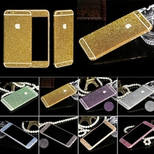 Shiny Glitter Full Body Stickers for iPhone 5 5S SE 6 6s Plus 6Plus Sparkling Diamond Decals Matte Screen Protector Wholesale(China (Mainland))