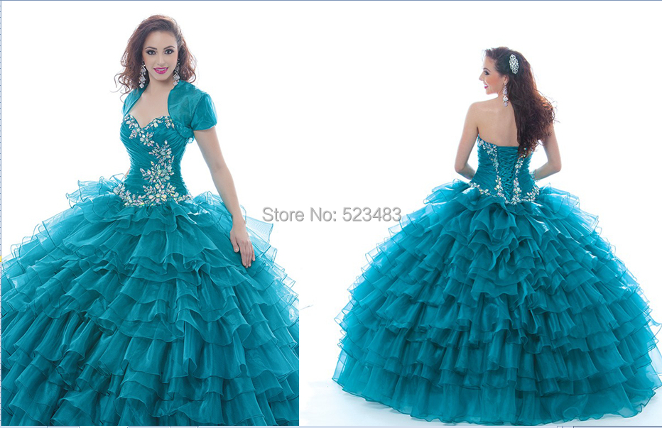 Sweet 18 Debutante Dress Beautiful Ball Gown Organza Girl Quinceanera Prom Dresses Jacket Multilayer Floor Length Custom - Shanghai Mona Lisa Fashion Co., Ltd. store