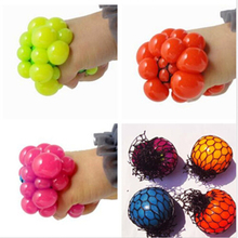 1Pcs hot sale Cute Anti Stress Face Reliever Grape Ball Autism Mood Squeeze Relief Healthy Toy Funny Geek Gadget Vent Toy(China (Mainland))