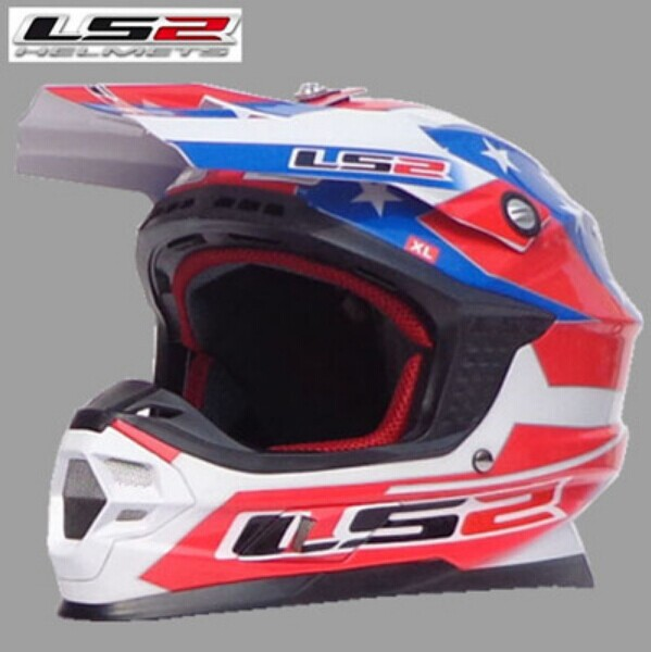 International shipping genuine brand motorcycle helmet LS2 MX456 fiberglass cross country motorcycle helmet full helmet(China (Mainland))