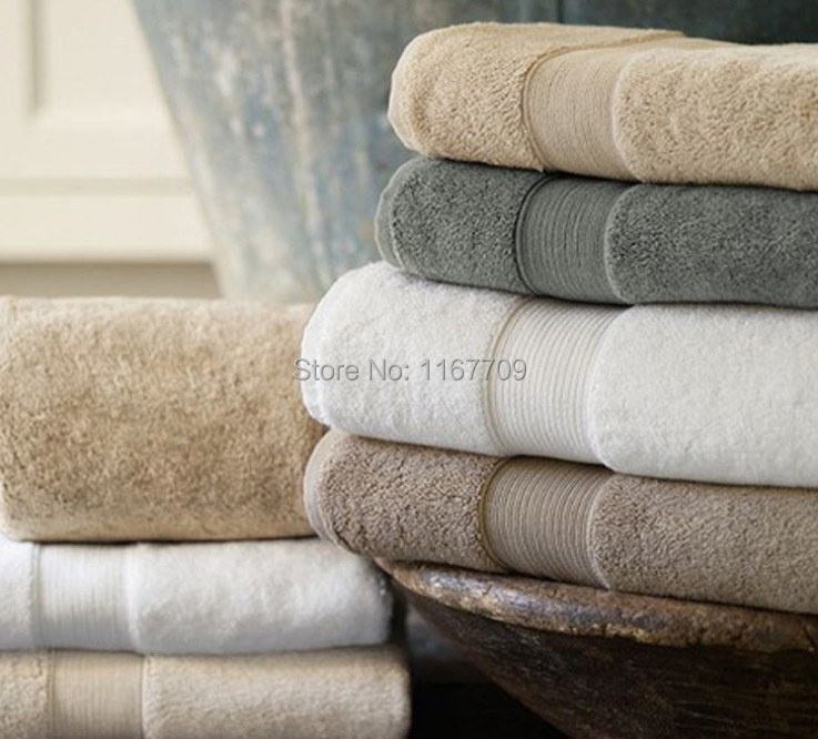 100% Cotton Large Size Bath Towel 70*140cm Luxury Beach Towels White Color Hotel/Home Thicker Towels Bathroom Use(China (Mainland))