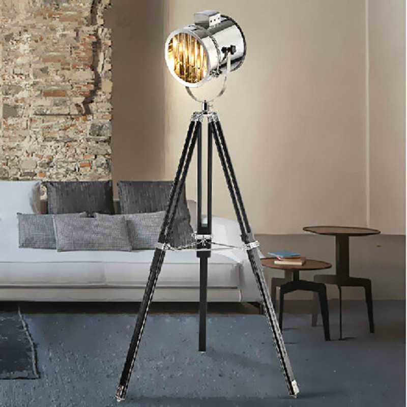 Modern spotlight tripod floor lamps for living room abajur for Living lighting floor lamps