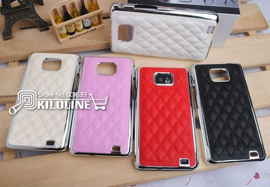 10pcs/Lot-Luxury Stitched Back Case Cover Skin For Samsung Galaxy S2 i9100 without retail box