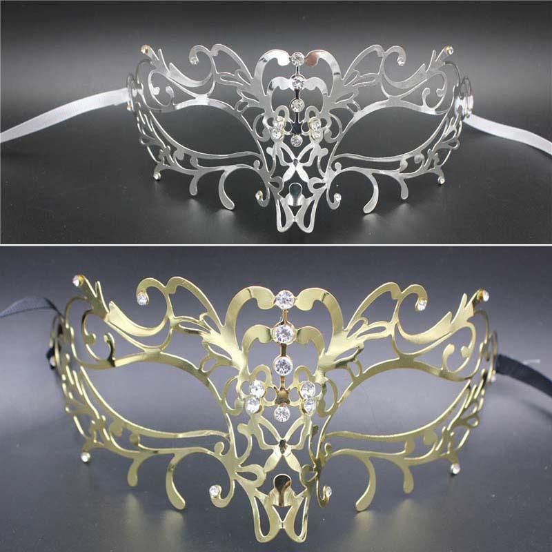2016 artificial diamonds halloween mask Golden silver payday masks venetian masquerade masks factory direct sales customized(China (Mainland))