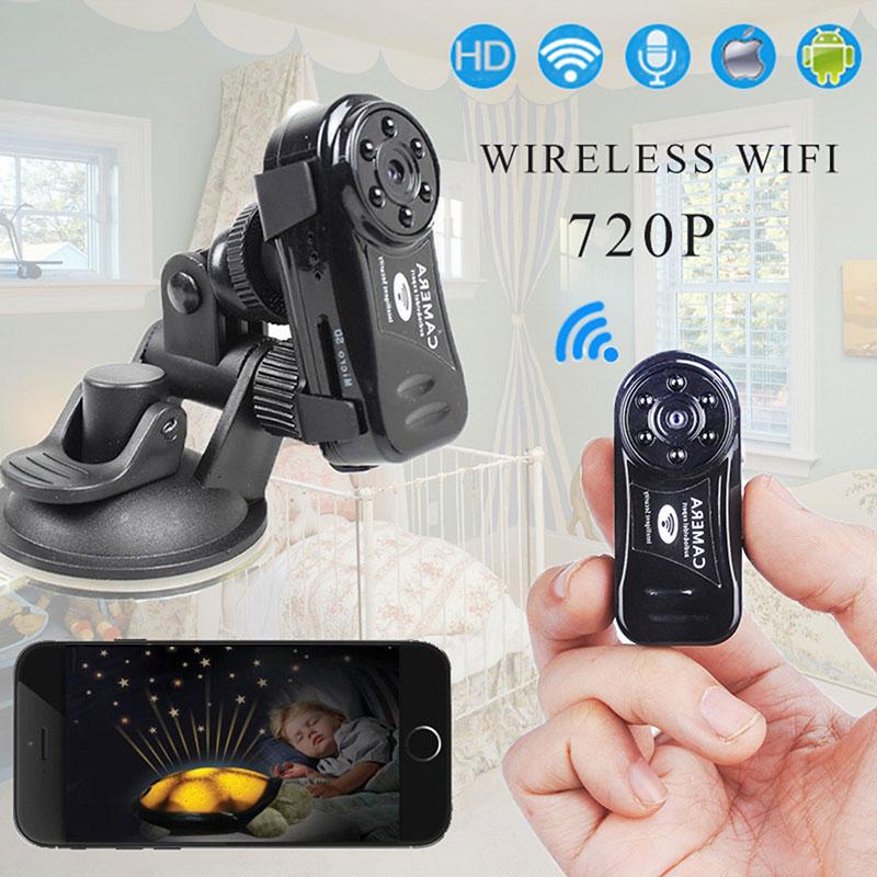 Mini Wireless Wifi Camera 720P HD IP Night Vision Hidden Spy Hoursing Security DV DVR Micro Network Digital Video Camcorder(China (Mainland))