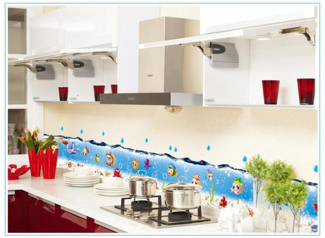 Бесплатная доставка 3d пузырь мир моря рыба съемный водонепроницаемый декоративные настенные наклейки 7057 ванная кухня наклейки для стен